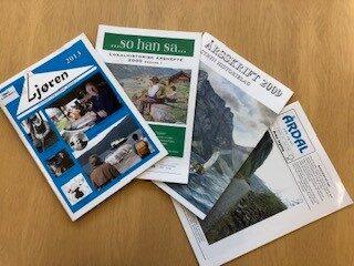 Framsider på lokalhistoriske tidsskrift