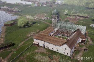 Frå Grind.no. Nonneseter kloster mot nord.