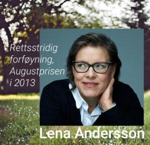 Lena Andersson (foto med illustrasjon).